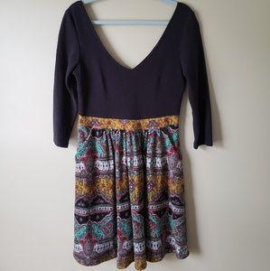 Anthropologie Maeve southwest paisley dress